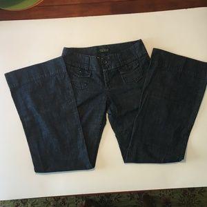 Lucky Brand Manhattan Trouser Wide Leg Jeans 4/27